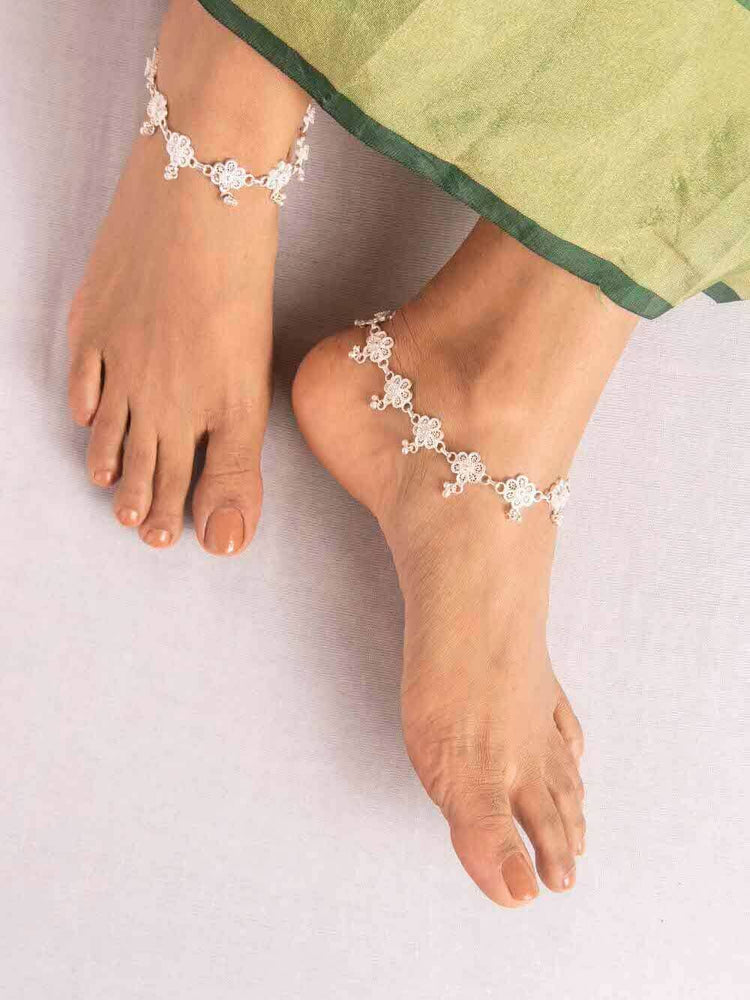 Beautiful Silver Anklets
