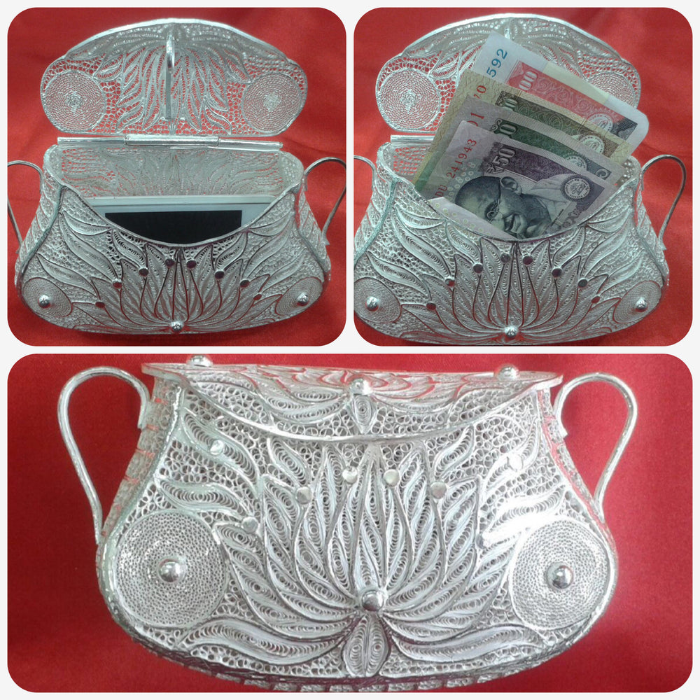 Silver Filigree Ladies Handbag