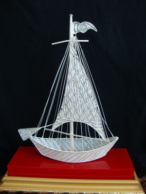 Silver Filigree Ship