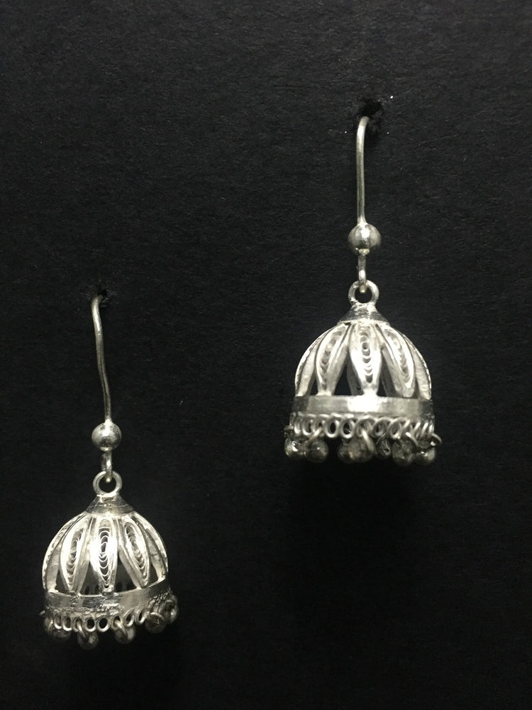 Silver Jhumka Earrings