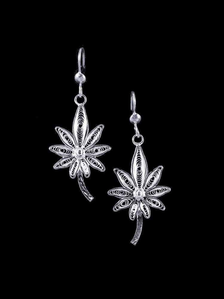 Vriksha Silver Earrings