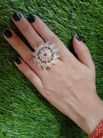 Floral Stone Ring
