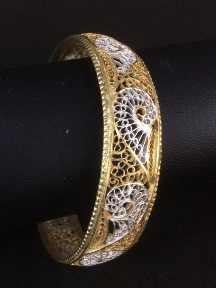 Gold plated Silver Filigree bangles