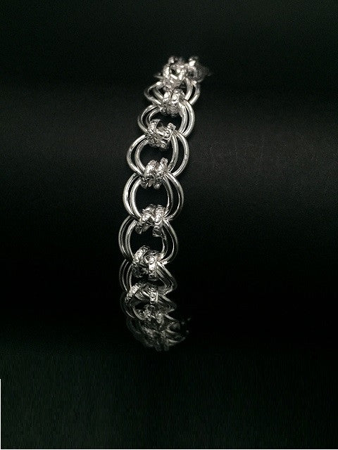 Cable Chain Mens Silver Bracelet