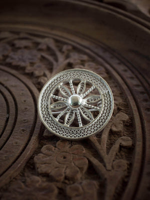 Load image into Gallery viewer, Konark Wheel Brooch