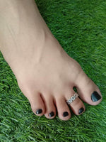 Oxidised Toe Ring Single