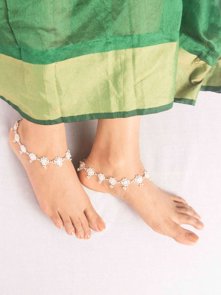 Pretty Silver Anklets