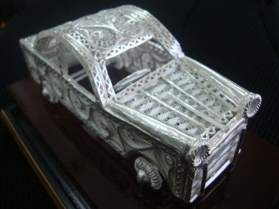 Load image into Gallery viewer, Silver Filigree Car
