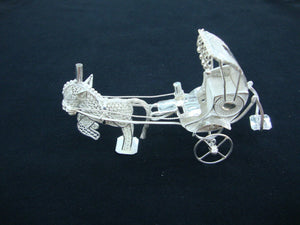 Load image into Gallery viewer, Silver Filigree Horse Rickshaw