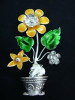 Silver Filigree Flower Pot