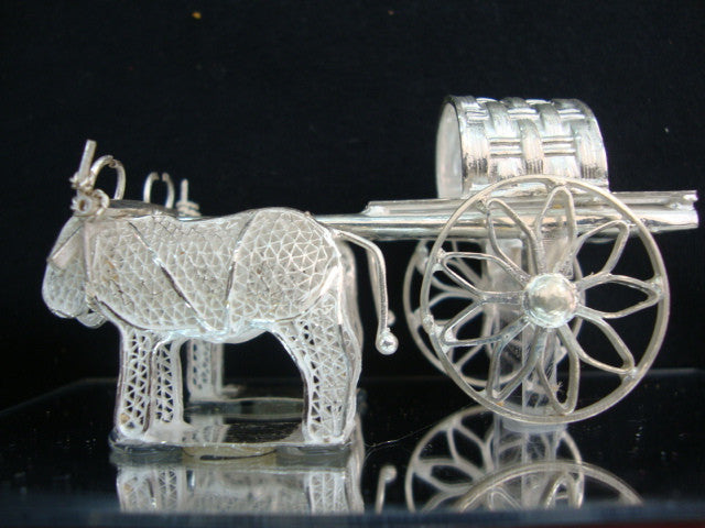 Silver Filigree Bullock Cart