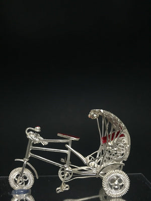Silver Filigree Cycle Rickshaw