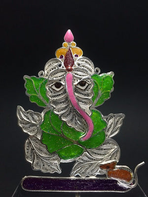 Load image into Gallery viewer, Silver Showpieces Silver Filigree Ganesh SP220 - 2