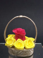 Silver Filigree Flower Basket