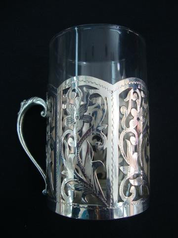 Silver Glass Holder
