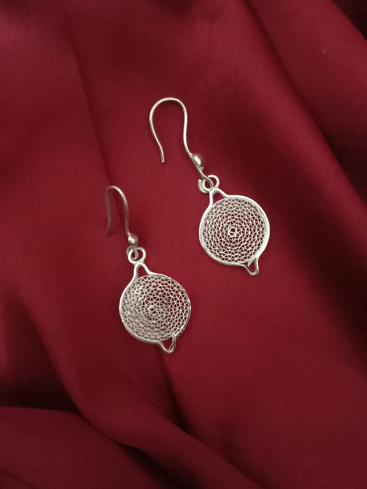 Load image into Gallery viewer, Silver Earrings Moon