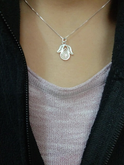 Load image into Gallery viewer, Silver Pendant Tulip