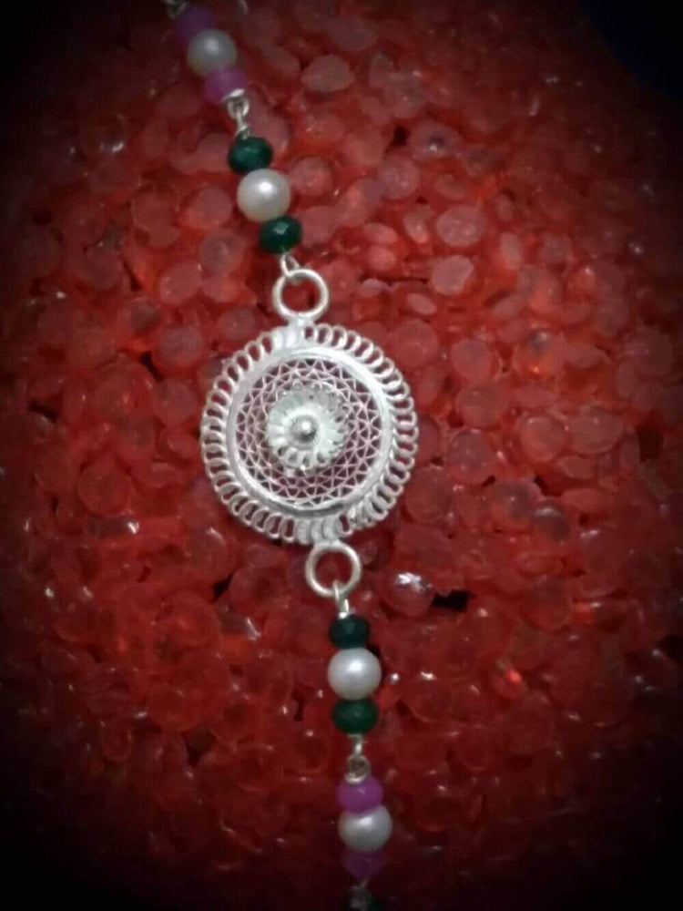 Load image into Gallery viewer, Silver Rakhi Sentiment