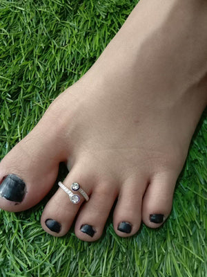 Silver Toe Ring Single