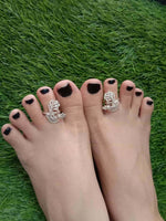 Peacock Toe Rings