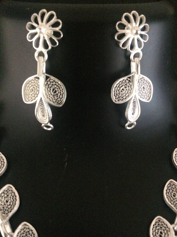Silver Earrings in Filigree