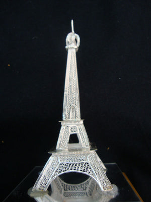 Load image into Gallery viewer, Silver Eiffel tower