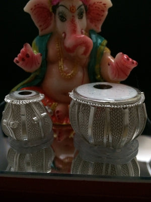 Load image into Gallery viewer, Silver Ganesh Tabla