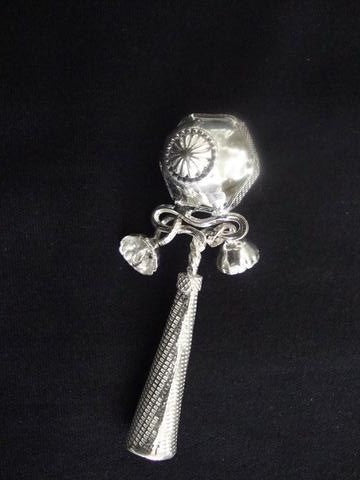 Load image into Gallery viewer, Silver Baby Rattle
