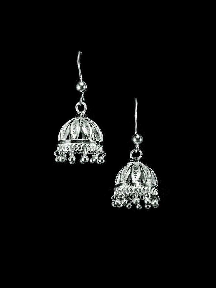 Silver Jhumkas or girls