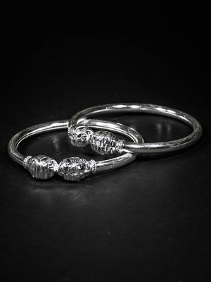 Load image into Gallery viewer, Silver Kanga Cuffs