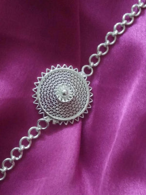 Load image into Gallery viewer, Silver Rakhi Bracelet