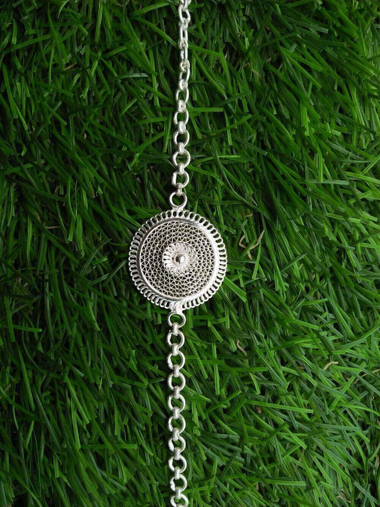 Load image into Gallery viewer, Silver Rakhi Bond