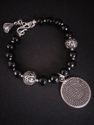 Load image into Gallery viewer, Black beads bracelet online