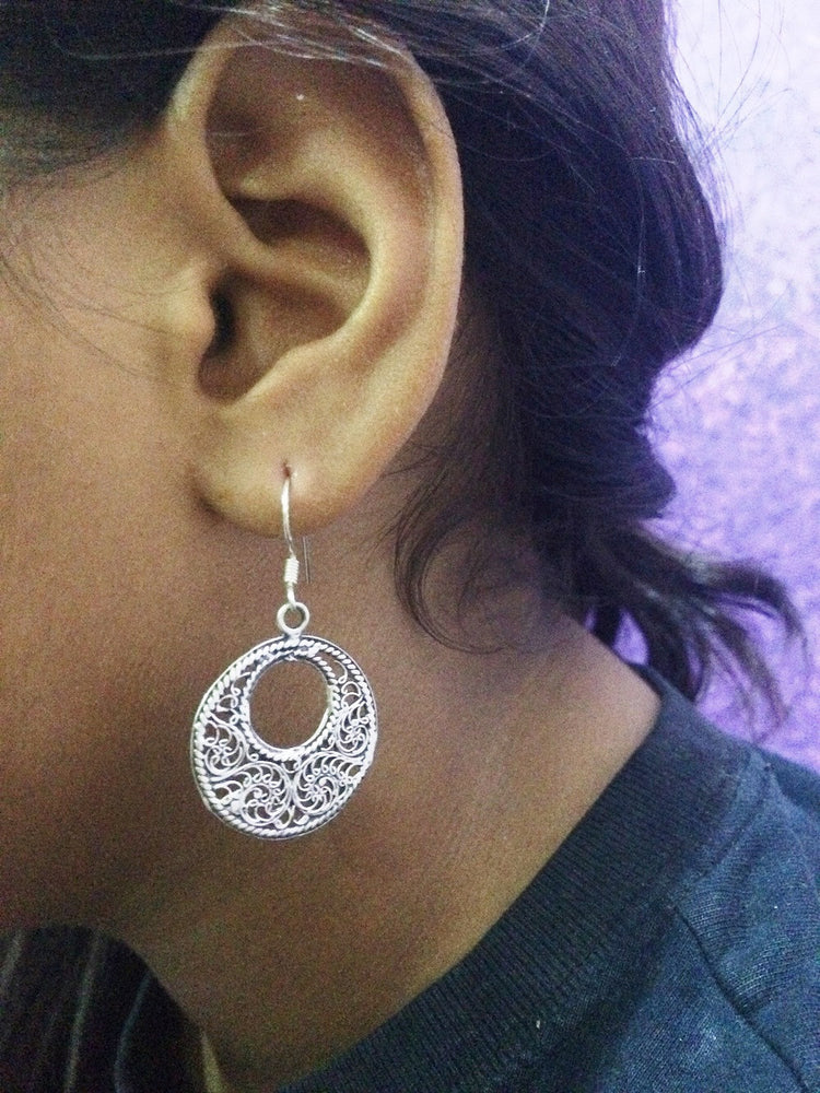 Oxidized Silver earrings