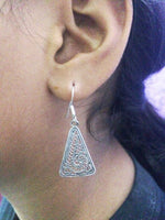 Oxidised ear rings