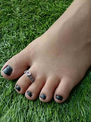 Load image into Gallery viewer, Stone Toe Ring Single