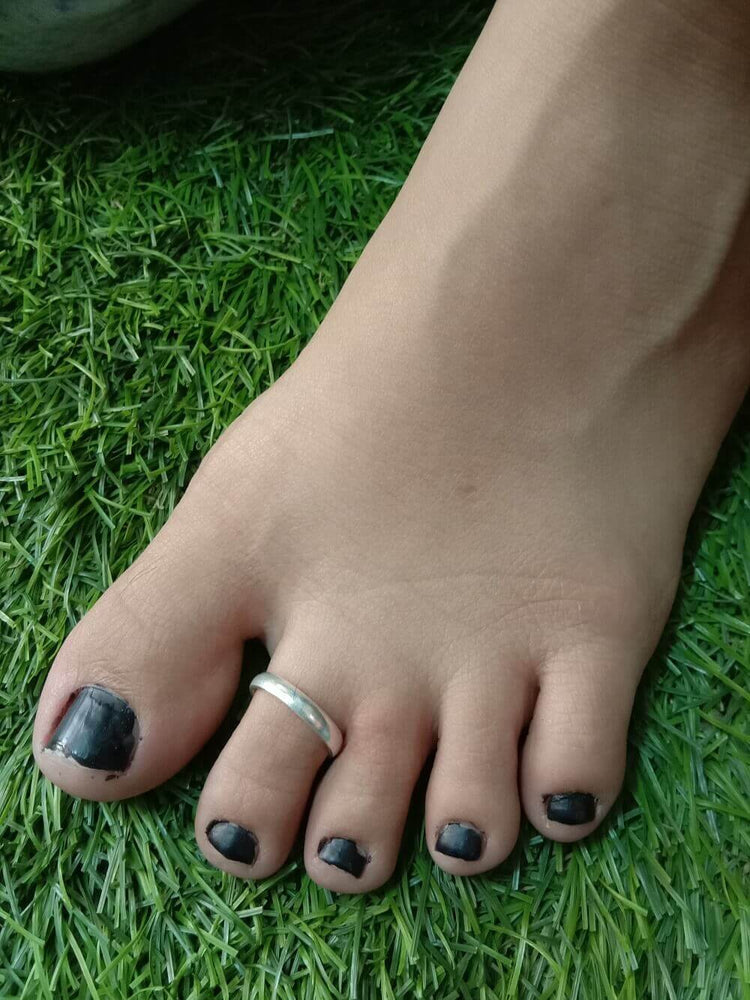 Band Toe cum Thumb Ring Single