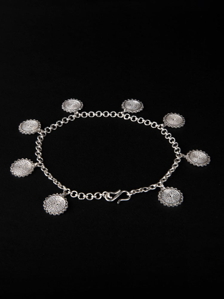 Thin Anklets with Beads