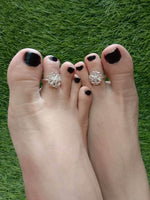 Floral Toe Rings