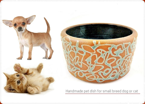 Pet dish for small breed dog or cat