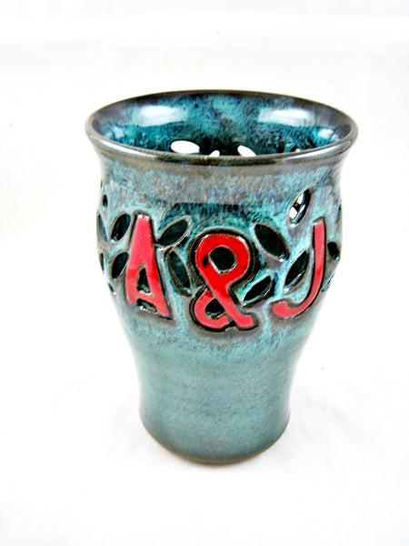 Personalized Pottery Wedding Vase