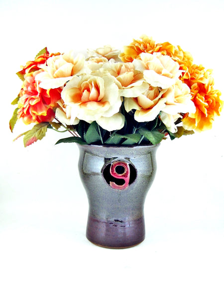 Ninth Anniversary gift Pottery flower vase