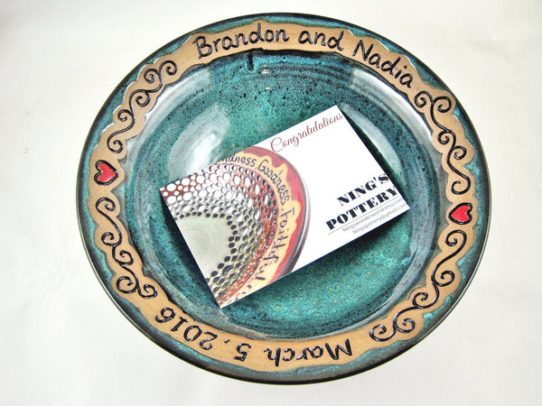 Personalized Wedding bowl -Ningspottery