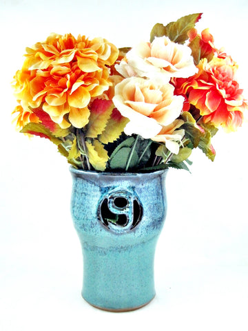 9th Anniversary gift Pottery flower vase