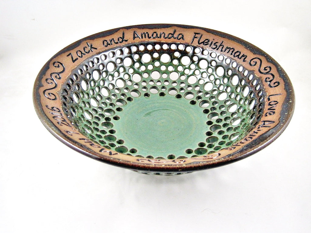 Personalized Wedding Gift For The New Couple By Nings Pottery