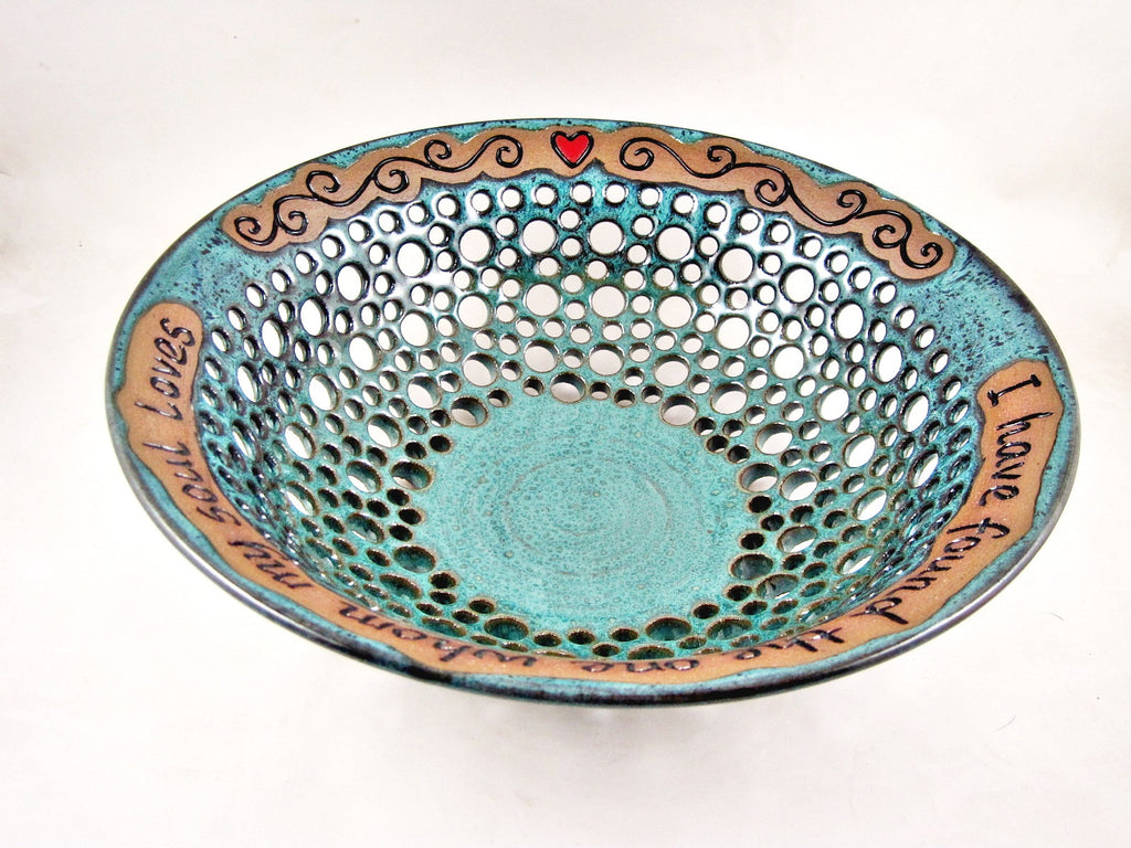 custom made pottery fruit bowl - Ning's Pottery