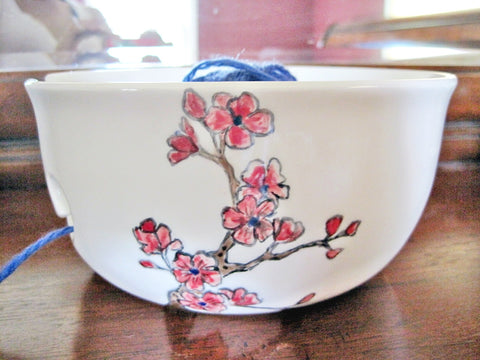 Hand Painted yarn bowl - Ready to ship