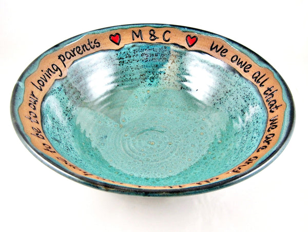 Teal Blue Wedding Parents appreciation gift