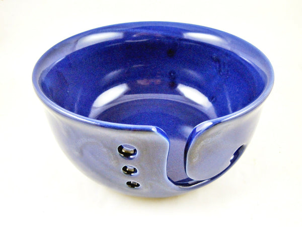 Cobalt blue yarn bowl - Ready to ship
