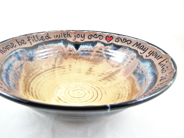 Wedding blessing bowl, housewarming gift - 309 WB
